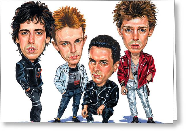 Great Paintings Greeting Cards - The Clash Greeting Card by Art