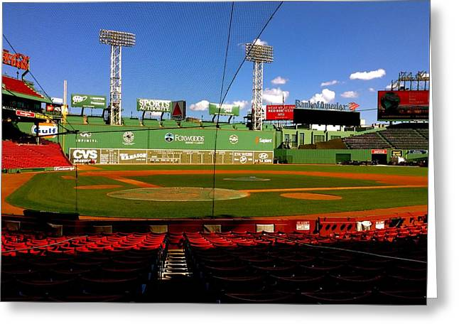 Red Sox Art Greeting Cards - The Classic  Fenway Park Greeting Card by Iconic Images Art Gallery David Pucciarelli
