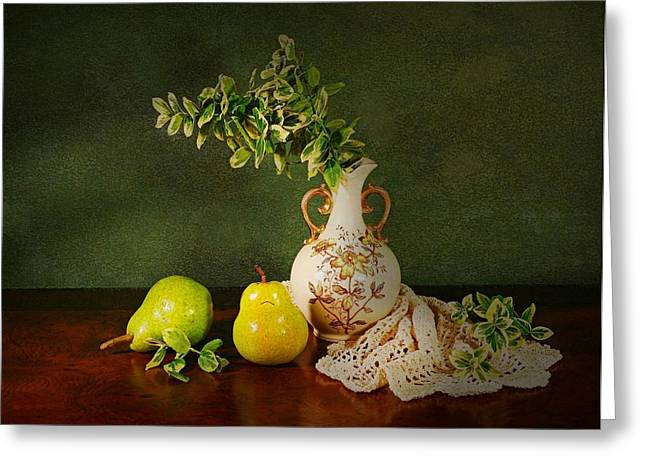 Table Top Still Life Greeting Cards - The Classical Urn Greeting Card by Diana Angstadt