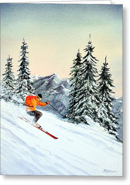 Freestyle Skiing Greeting Cards - The Clear Leader Greeting Card by Bill Holkham