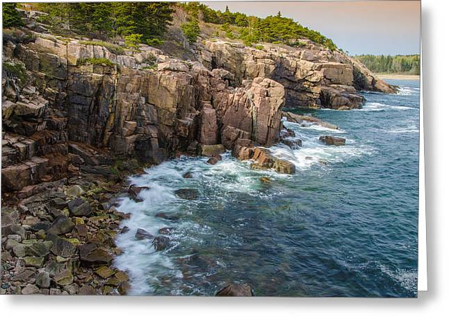 The Cliffs Greeting Card by Kristopher Schoenleber