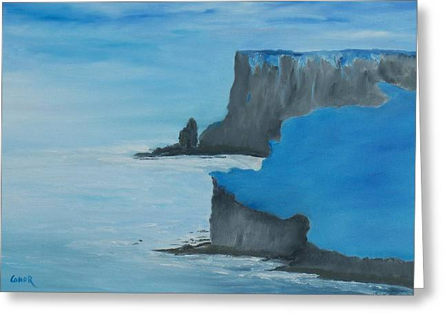The Cliffs Of Moher Greeting Card by Conor Murphy