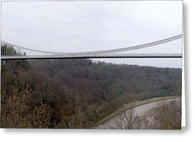 Bridge Greeting Cards - The Clifton Suspension Bridge Greeting Card by Mike McGlothlen