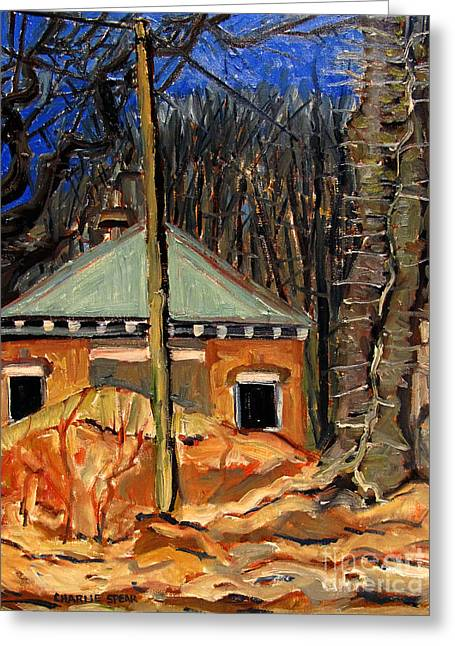 Dilapidated Paintings Greeting Cards - The Climbing Vine Greeting Card by Charlie Spear