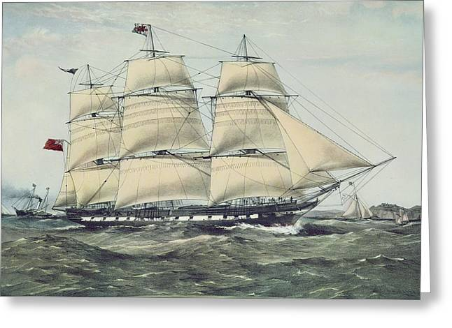The Clipper Ship Anglesey Greeting Card by Anonymous