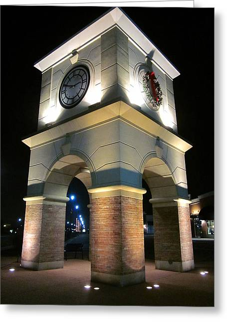Guy Ricketts Photography Greeting Cards - The Clock Tower Greeting Card by Guy Ricketts