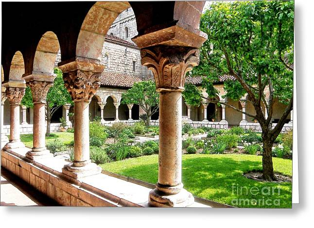 Sarah Loft Greeting Cards - The Cloisters Greeting Card by Sarah Loft