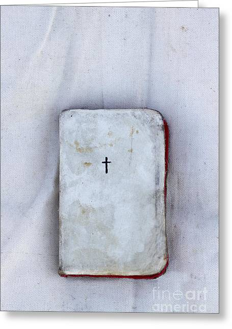 Worn Leather Photographs Greeting Cards - The Cloth Greeting Card by Margie Hurwich