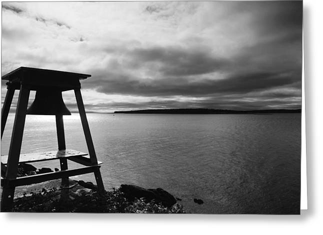 The Cloud And Bell In Acadia National Park Maine Greeting Card by Paul Ge