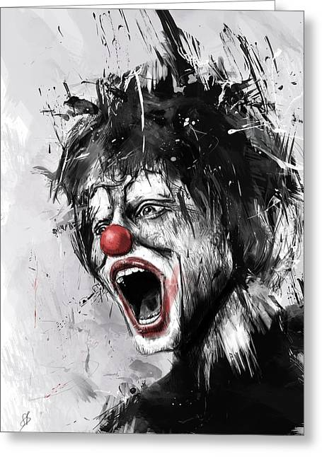 Clown Greeting Cards - The Clown Greeting Card by Balazs Solti