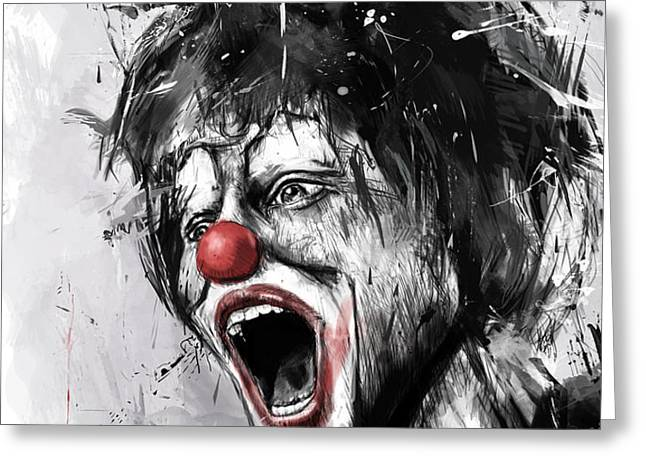 the clown Greeting Card by Balazs Solti