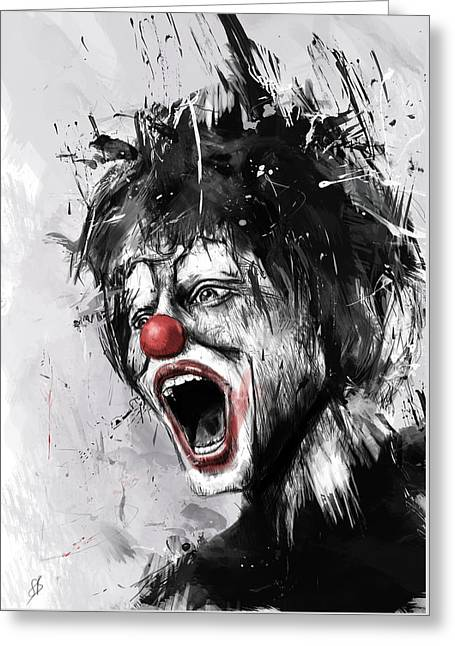 Laughing Greeting Cards - The Clown Greeting Card by Balazs Solti