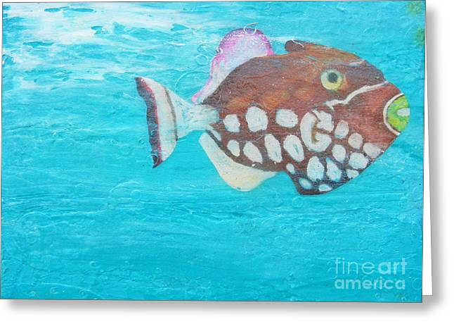 Snorkelling Greeting Cards - The Clown Greeting Card by Kristen Ashton