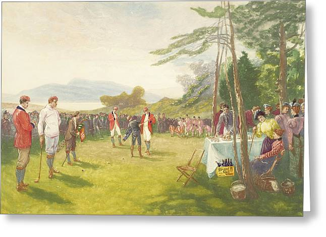 Golf Tournaments Greeting Cards - The Clubs the Thing Greeting Card by Henry Sandham