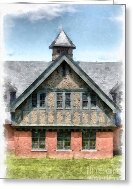 Shelburne Greeting Cards - The Coach Barn at Shelburne Farms Greeting Card by Edward Fielding