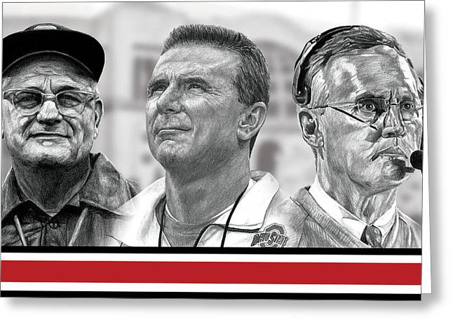 Buckeye Greeting Cards - The Coaches Greeting Card by Bobby Shaw