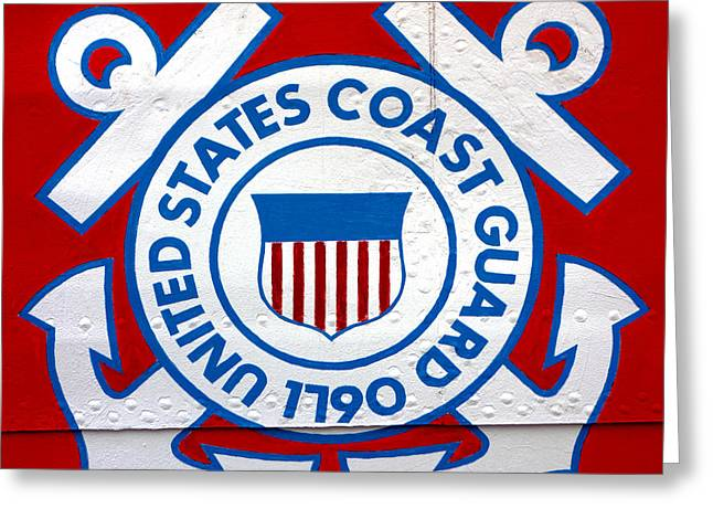 The Coast Guard Shield Greeting Card by Olivier Le Queinec