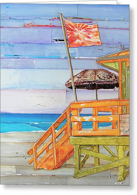 Nostalgic Mixed Media Greeting Cards - The Coast is Clear Greeting Card by Danny Phillips
