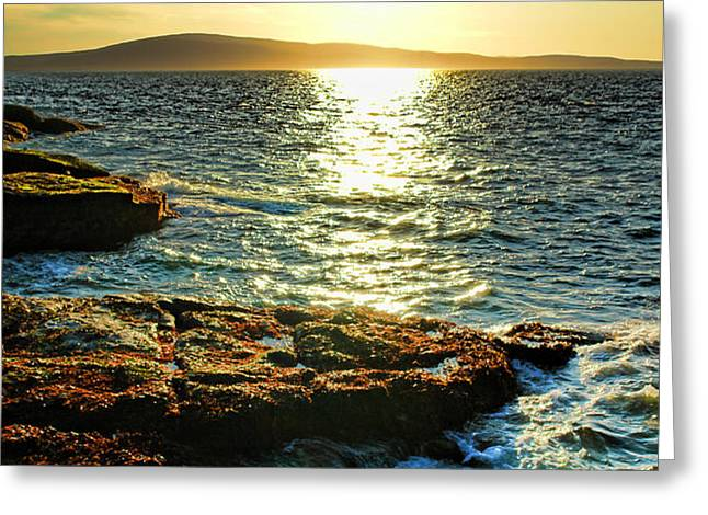 The Coast of Maine Greeting Card by Olivier Le Queinec