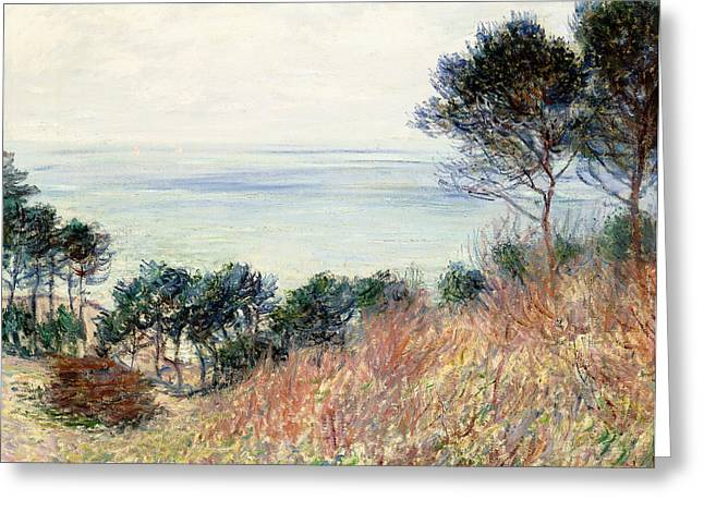 Monet Reproduction Greeting Cards - The Coast of Varengeville Greeting Card by Claude Monet