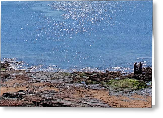 Sunbathing Greeting Cards - The Coast of Vendee Triptych Center   Greeting Card by Olivier Le Queinec