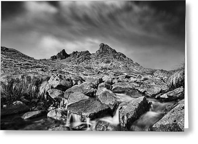 Bute Greeting Cards - The Cobbler Greeting Card by Rod McLean