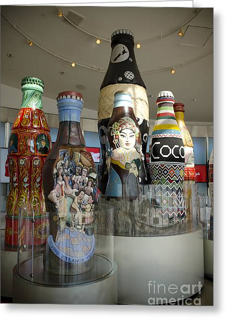 Coca Cola.coke-a-cola Greeting Cards - The Coca-Cola Sculptures Greeting Card by Jessica Berlin