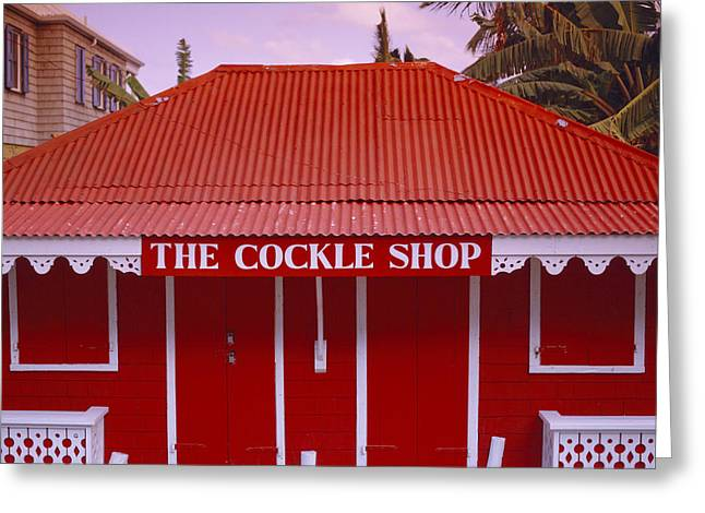 The Cockle Shop Greeting Card by Shaun Higson