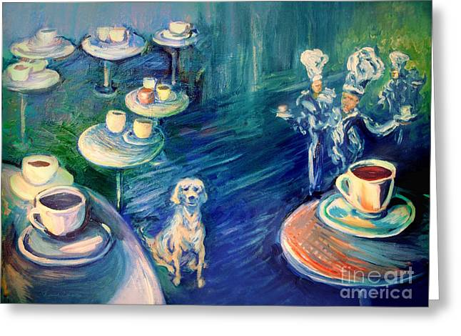 Frederick Luff Greeting Cards - The Coffee Chefs  Greeting Card by Frederick  Luff