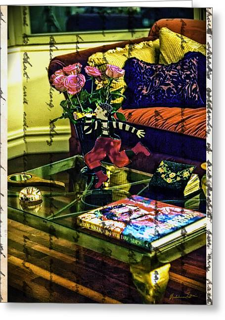 Coffee Table Greeting Cards - The Coffee Table Greeting Card by Madeline Ellis