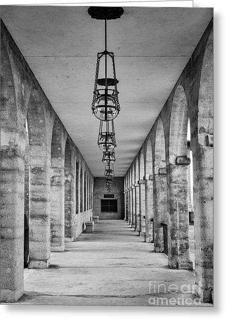 Northeast Florida Greeting Cards - The Collanade at the Old Hotel Alcazar St. Augustine Florida Greeting Card by Dawna  Moore Photography