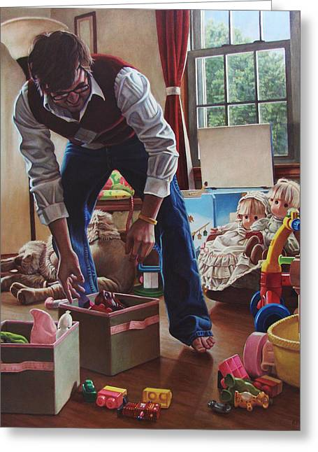 Budget Paintings Greeting Cards - The Collector Greeting Card by Kenneth Cobb