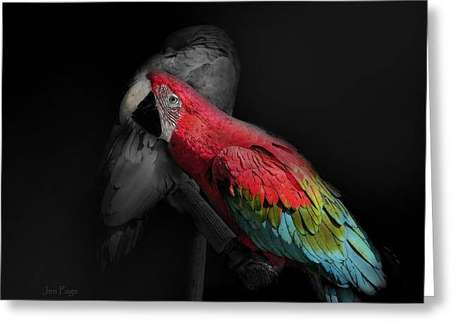 Love The Animal Greeting Cards - The Color of friendship Greeting Card by Jennifer Page