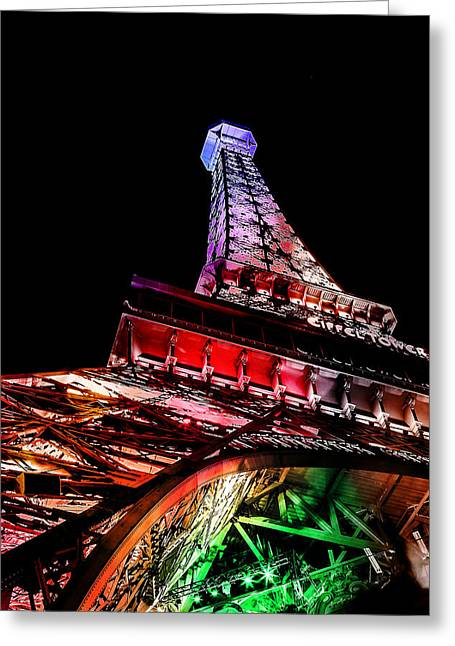 Eiffel Tower Greeting Cards - The Color Of Love Greeting Card by Az Jackson