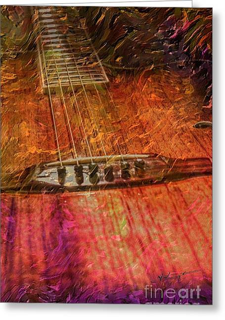 Acoustical Digital Art Greeting Cards - The Color Of Music Digital Guitar Art by Steven Langston Greeting Card by Steven Lebron Langston