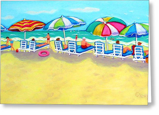 The Color Of Summer  Greeting Card by Rebecca Korpita