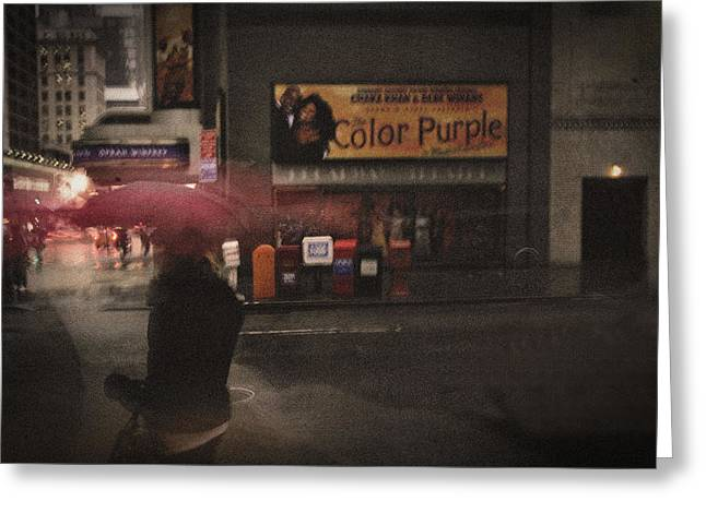 The Color Purple Greeting Card by Linda Unger