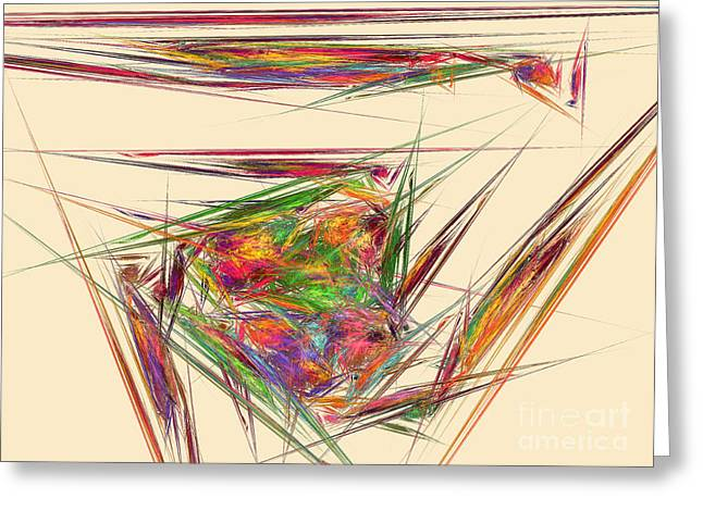 Abstract Movement Greeting Cards - The colorful nest Greeting Card by Odon Czintos