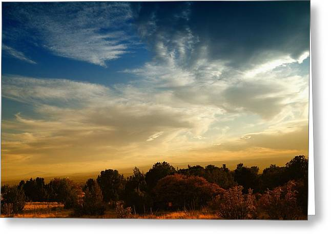 Southwestern Photography Greeting Cards - The Colorful Sky New Mexico Greeting Card by Jeff  Swan