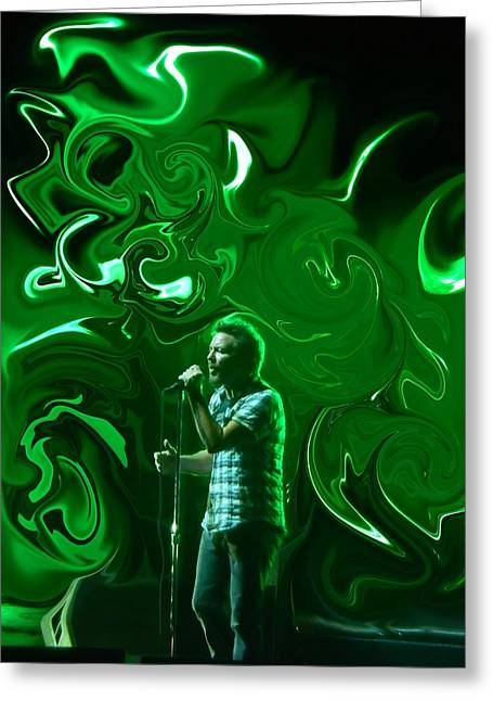 Pearl Jam Photographs Greeting Cards - The Colors Blend Greeting Card by David Powell