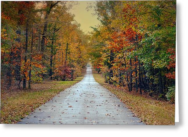 Fall Scenes Greeting Cards - The Colors of Fall - Autumn Landscape Greeting Card by Jai Johnson
