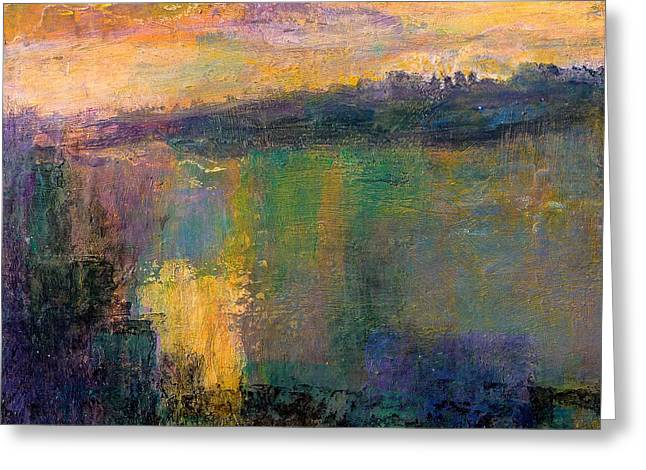 Abstract Expressionist Greeting Cards - The Colors of Hope Greeting Card by Jim Whalen
