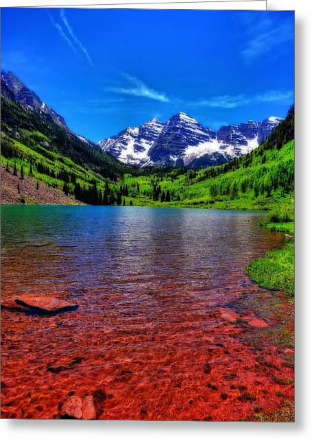 White River Greeting Cards - The Colors Of Maroon Bells In Summer Greeting Card by Dan Sproul