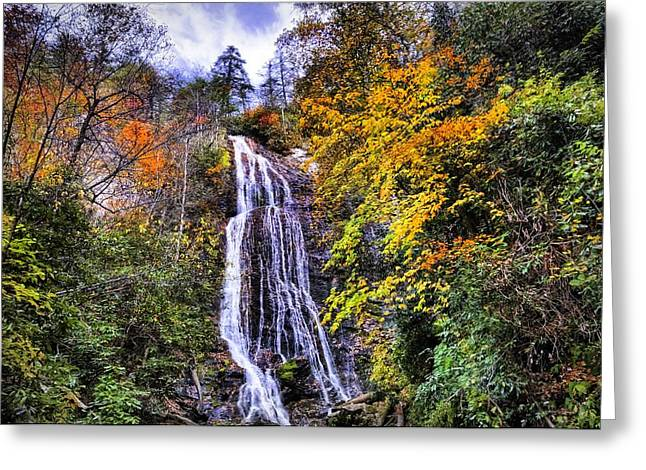 Layer Greeting Cards - The Colors of Mingo Falls Greeting Card by Lynn Bauer