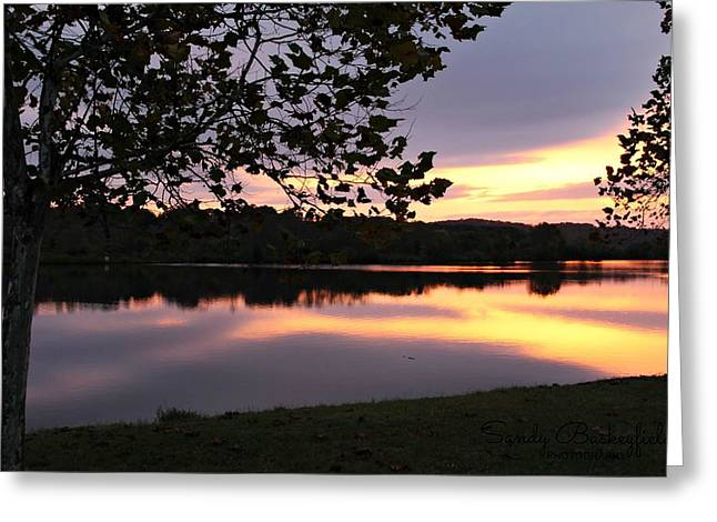 Tennessee Landmark Greeting Cards - The Colors of Sunrise Greeting Card by Sandy Baskeyfield