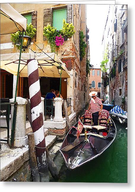 The Colors Of Venice Greeting Card by Irina Sztukowski