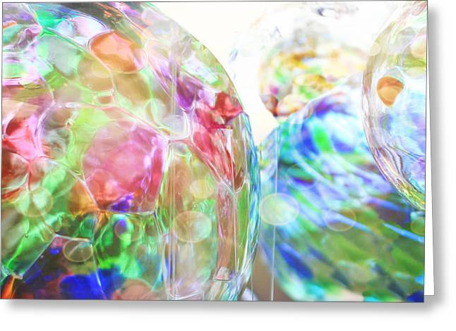 Glass Wall Greeting Cards - The Colors Spin Greeting Card by K Hines