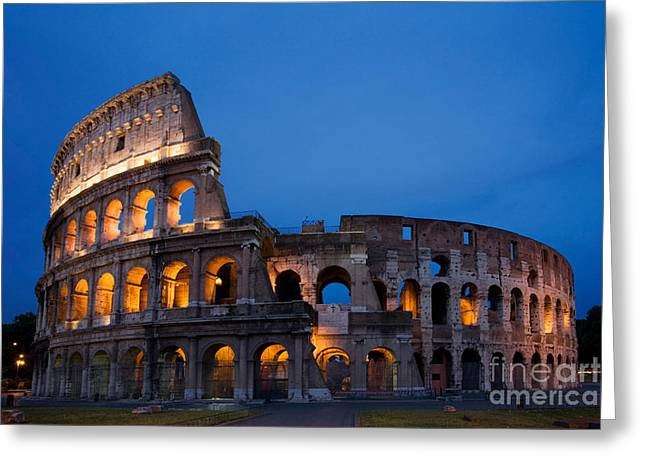 Recently Sold -  - Historic Architecture Greeting Cards - The Colosseum Greeting Card by David Davis