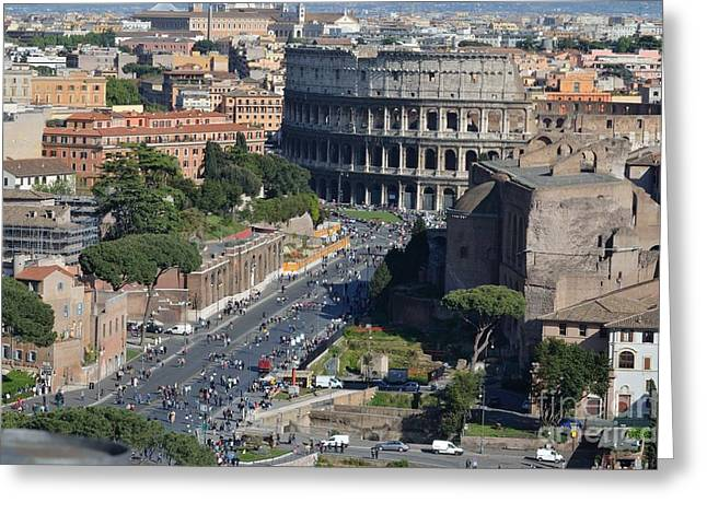 Outdoor Theater Greeting Cards - The Colosseum Greeting Card by Marco Rubino