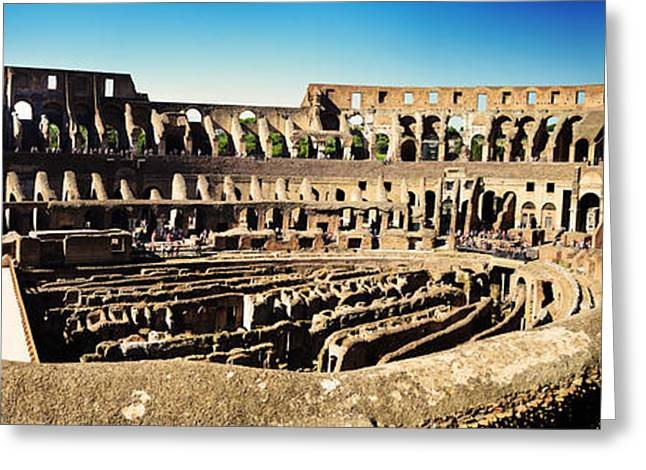 Slaves Greeting Cards - The Colosseum Greeting Card by Phill Petrovic